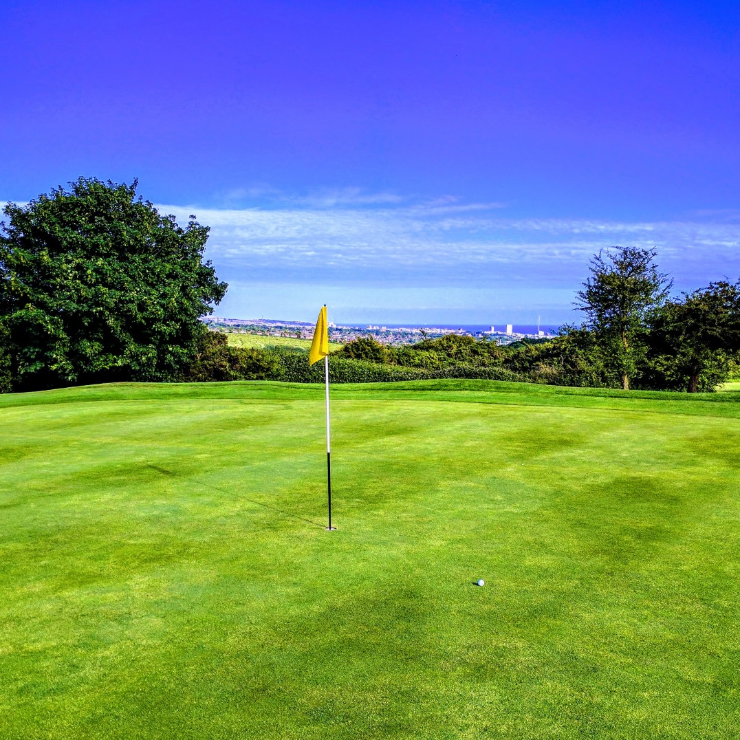 Brighton & Hove Golf Club 2nd (and 11th) green