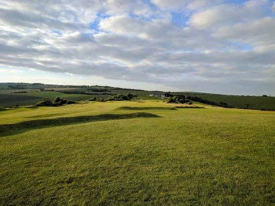 Brighton & Hove Golf Club 4th (and 13th) approach
