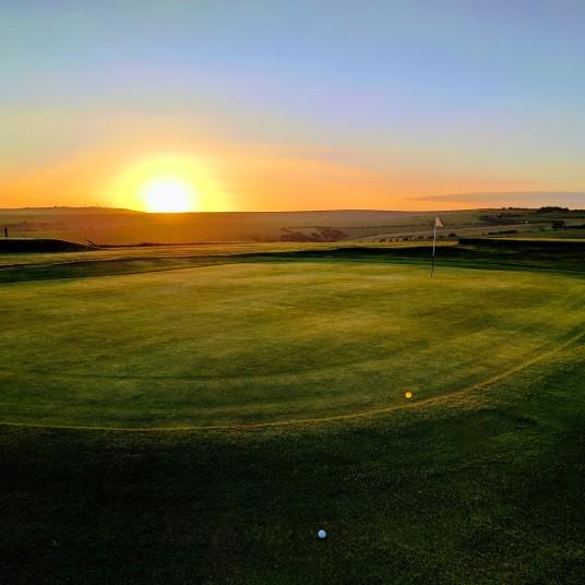Brighton & Hove Golf Club 3rd (and 12th) green